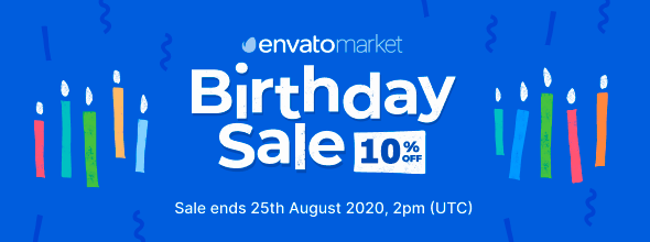 Envato Market Birthday Sale